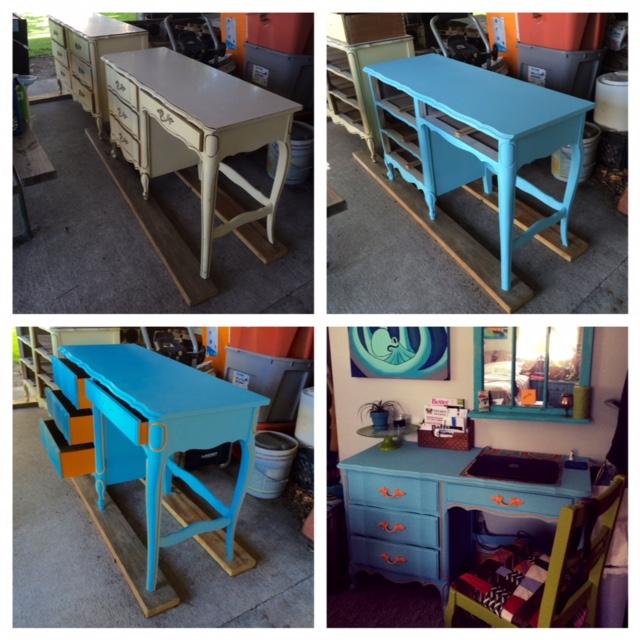 French Provincial Desk  DIY Renovation